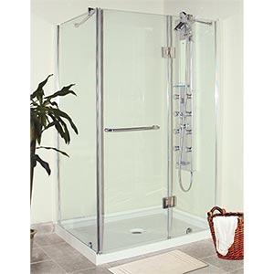 Jade nepal rectangular corner shower costco ottawa for Bathroom designs in nepal