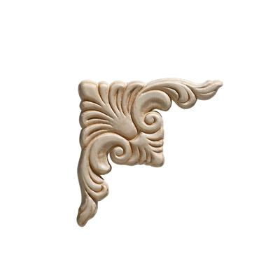 Ornamental mouldings embossed acanthus corner wood for Decorative millwork accents