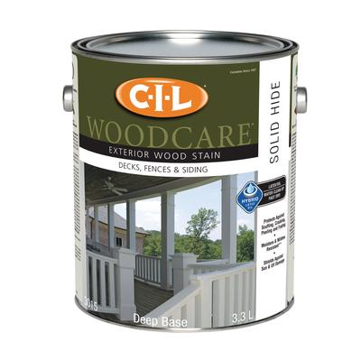Cil woodcare cil woodcare exterior wood stain solid deep base 3 3 litre home depot canada ottawa for Home depot exterior wood stain