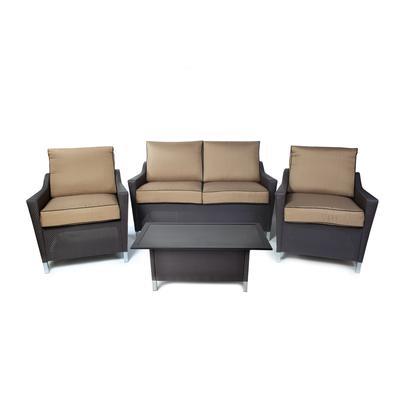 Martha Stewart Living Logan Faux Wicker Sofa Set 4 Piece Home Depot Canad