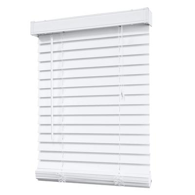 Designview 2 inch faux wood blind white 60 inch x 48 for 20 inch window blinds