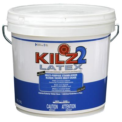 Kilz pro x latex interior exterior primer sealer stainblocker home depot canada for Kilz kilz 2 interior exterior latex primer