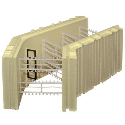 Advantage icf system advantage icf system 8inch 45 degree for Icf block prices