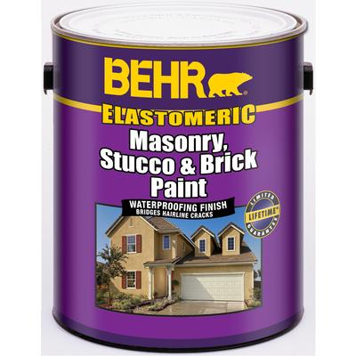 Behr elastomeric masonry stucco brick paint white 3 for Home depot masonry paint