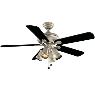 Hampton Bay Redington Brushed Steel Ceiling Fan - 52 Inch - Home Depot ...