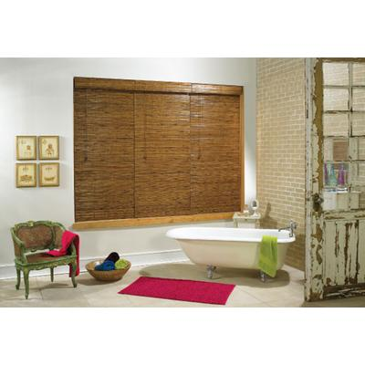 Earthwise tobermory bamboo roman shade oak 27 inch x 48 for 20 inch window blinds