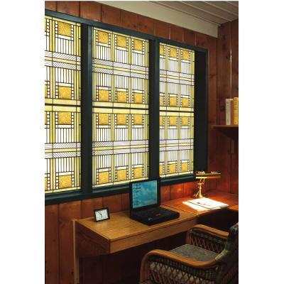 Artscape Amber Glass Decorative Window Film 24 In X 36 In