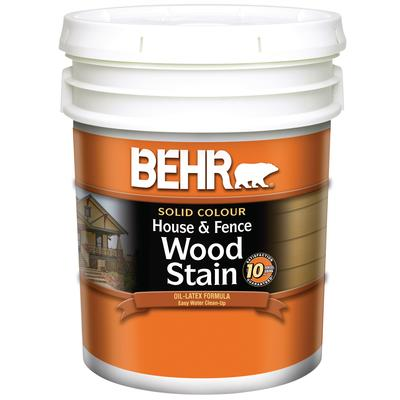 Behr Solid Colour House Fence Wood Stain 18 9l Home Depot Canada Ottawa