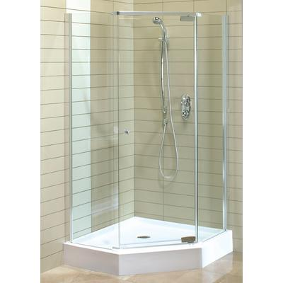 Keystone by maax magnolia angle acrylic shower kit home - Home depot bathroom tile installation cost ...