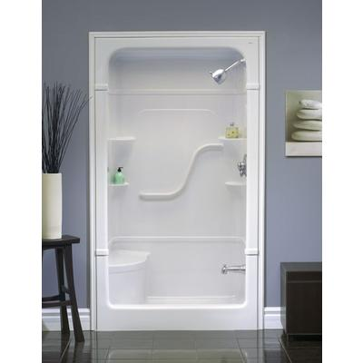 Mirolin madison 48 1 pc shower stall with seat home for Small bathroom kits
