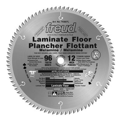 Freud Tooth Laminate Flooring Blade 12 Inch X 96 Inch