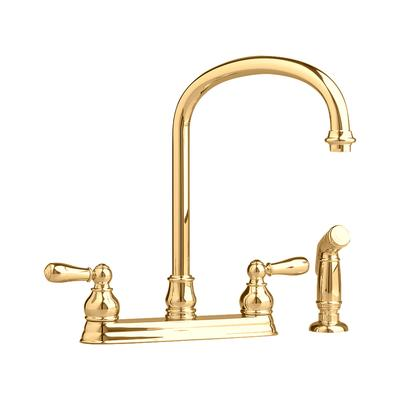 American standard hampton kitchen faucet with escutcheon plate in polished brass home depot - Kitchen faucets at home depot ...