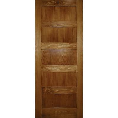 Milette 32x80 A Zen Designed 5 Panel Shaker Door In Clear