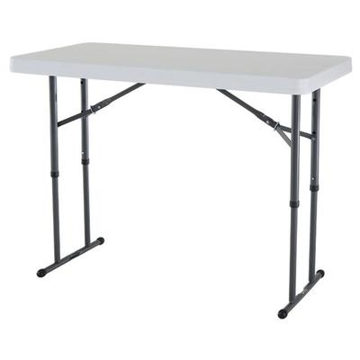 Lifetime Products Adjustable Height Folding Table 4 Feet