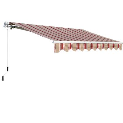 everite manual retractable awning 12 feet x 8 feet home depot