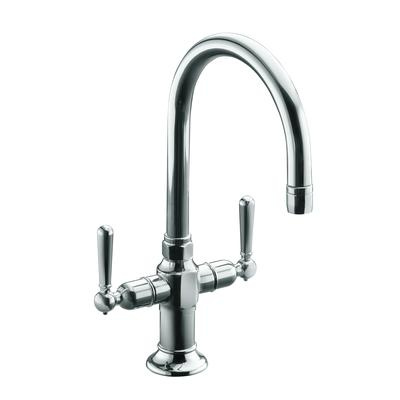 Bar Sink Faucet : ... Hirise Stainless Two Handle Bar Sink Faucet In Polished Stainless