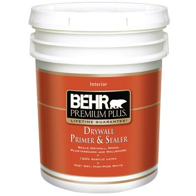 Behr premium plus interior drywall primer sealer 18 9l home depot canada ottawa Home depot interior paint prices