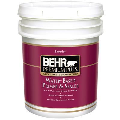 Behr premium plus exterior water based primer sealer for Exterior water based paint