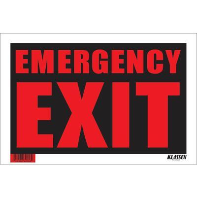 klassen bronze 8 x 12 sign emergency exit home depot