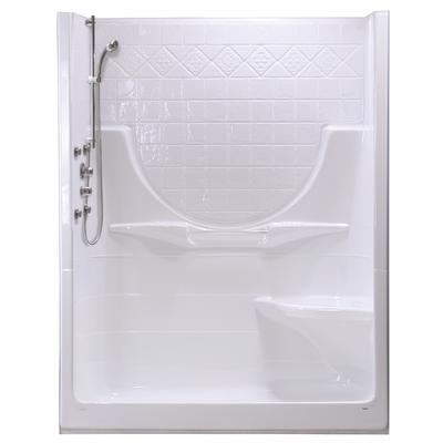 Maax Montego 60 Ii 2 Piece Right Seat White Acrylic Shower