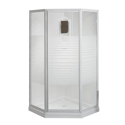 Keystone by maax cosmos 38 inches neo angle corner shower - Home depot bathroom tile installation cost ...