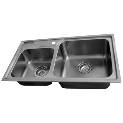 Acri-tec Stainless Steel Double Bowl Kitchen Sink - Home Depot Canada ...