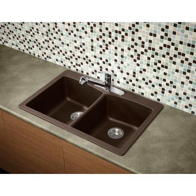 glacier bay double bowl granite kitchen sink espresso home depot