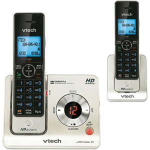 VTech DECT 6.0 2-Handset Cordless Phone with Answering ...