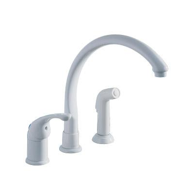 delta waterfall kitchen faucet white home depot canada delta pilar waterfall single handle standard kitchen