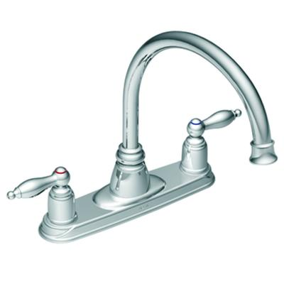 Moen Chrome Two Handle High Arc Kitchen Faucet Home