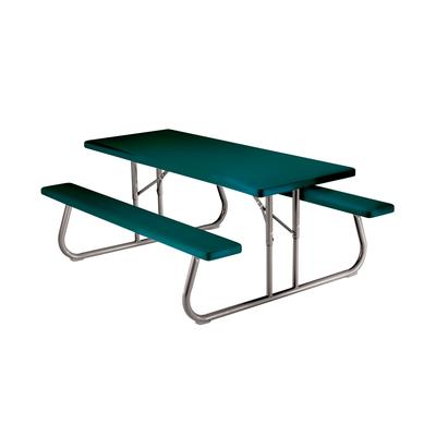 Lifetime Products Folding Picnic Table, 6 Feet - Green ...