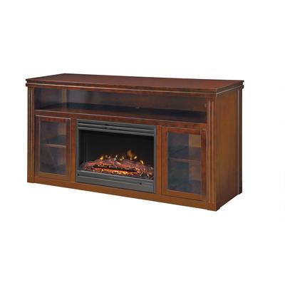 Muskoka Rosemont Collection Media Console 25 Inch Widescreen Electric Fireplace Pecan Home