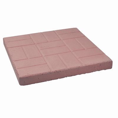 Decor Precast Red Brick Patio Paver 18 Inch X 18 Inch