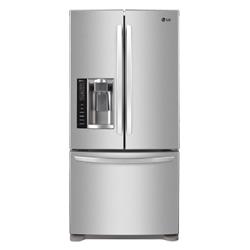 Lg 24 9 cu ft french door refrigerator lfx25778st for 18 cubic foot french door refrigerator