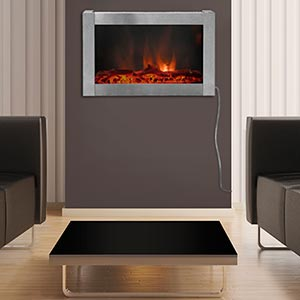 Avenue Stainless Steel Wall Mount Electric Fireplace Costco Ottawa