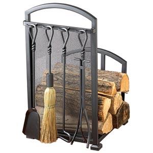 Signature Series Black Log Rack And Tool Set Costco Ottawa