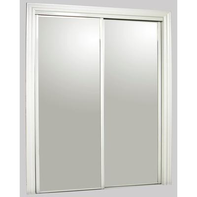 Kingstar 72 x 80 steel white wide framed bottom roll for Large door mirror