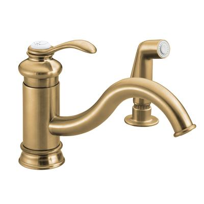 Kohler Fairfax Single Control Kitchen Sink Faucet In Vibrant Brushed Bronze Home Depot Canada