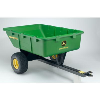 John Deere 10 Cu Ft Lawn Tractor Cart Home Depot