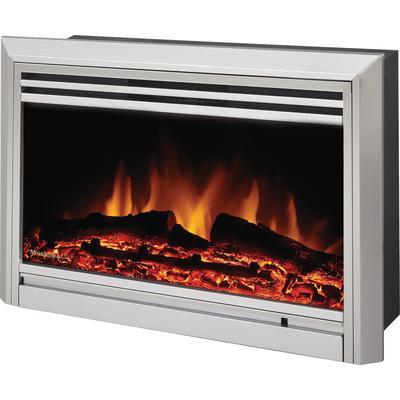 Muskoka Muskoka Electric Fireplace Insert Stainless Steel Widescreen 25 Inch Home Depot