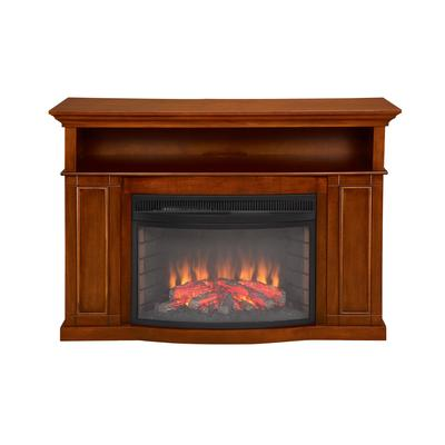 muskoka sheppard electric fireplace 25 inch curved firebox burnished