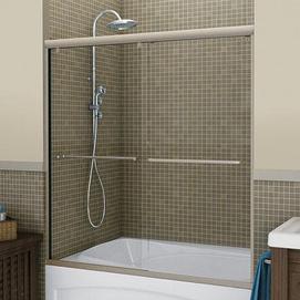 Maax 39 session 39 2 panel tub height sliding door sears for 3 panel tub shower doors