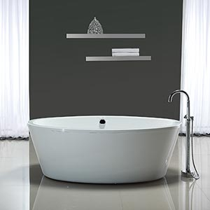 betsy 67 in bathtub with athena freestanding faucet costco ottawa. Black Bedroom Furniture Sets. Home Design Ideas