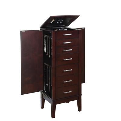 Powell Contemporary Dark Espresso Jewelry Armoire - Home ...