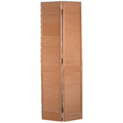 Masonite clear pine full louver bifold 30in x 80in home for Porte pliante 60 pouces