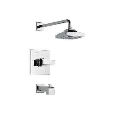 delta arzo single handle tub and shower faucet trim only in chrome home dep. Black Bedroom Furniture Sets. Home Design Ideas