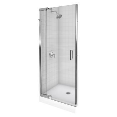 Kohler purist frameless pivot shower door in bright silver for 1200 pivot shower door