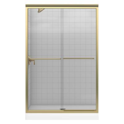 Kohler Fluence Frameless Bypass Shower Door In Anodized Brushed Bronze Home