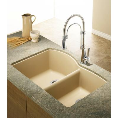 ... Silgranit, Natural Granite Composite Undermount Kitchen Sink, Biscotti