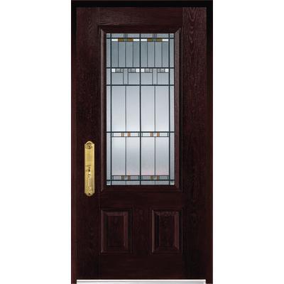 Stanley doors fibermax 1500e r fiberglass pre finished - Home depot exterior doors prices ...